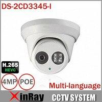 HIK 1080P Full HD 4MP Multi Language CCTV Camera DS 2CD3345 I POE IPC ONVIF Waterproof