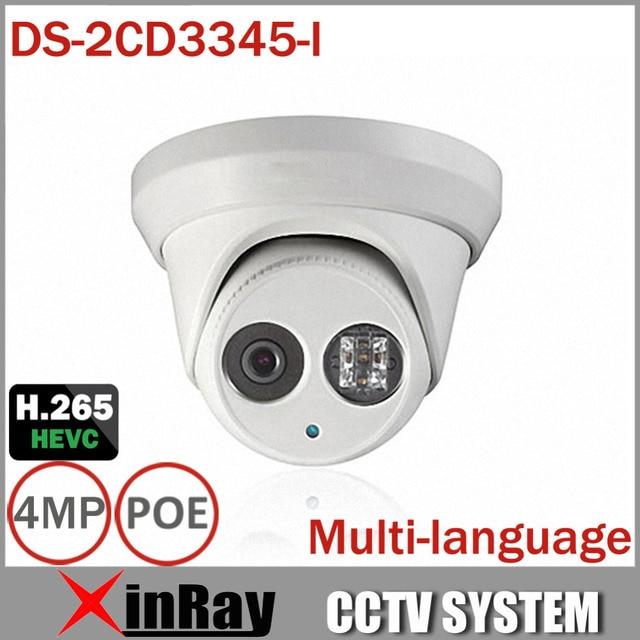 HIKVISION DS-2CD3345-I 1080P Full HD 4MP Multi-language CCTV Camera POE IPC ONVIF IP Camera replace DS-2CD2432WD-I DS-2CD2345-I