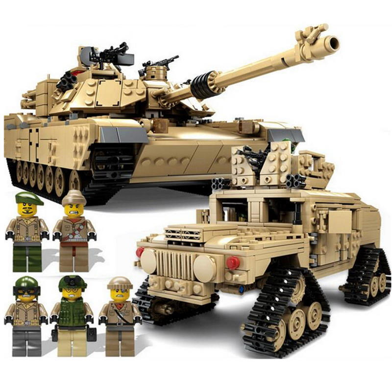 New Arrival! 1463Pcs/set Military Super Gun Weapon Tank Building Blocks Tracked Military Hummer Model Assembly Toys For Children new very cool action toy figures 6 pcs orcs with weapon ancient military solider model set diy assembly half orc model puppet