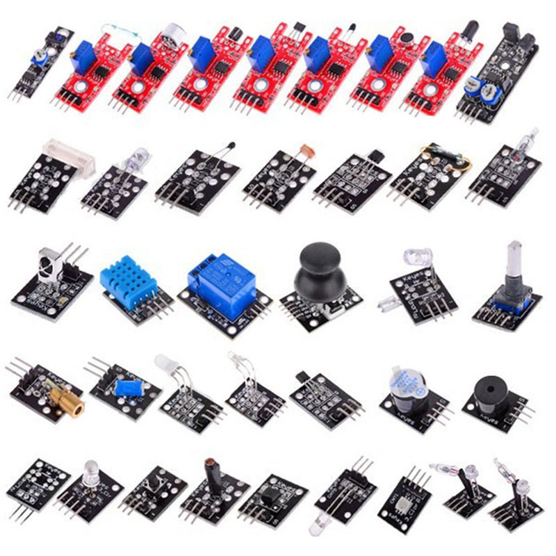 37 In 1 Sensor Modules Kit With Case Suitable For Arduino & MCU Education User Connectors--M25