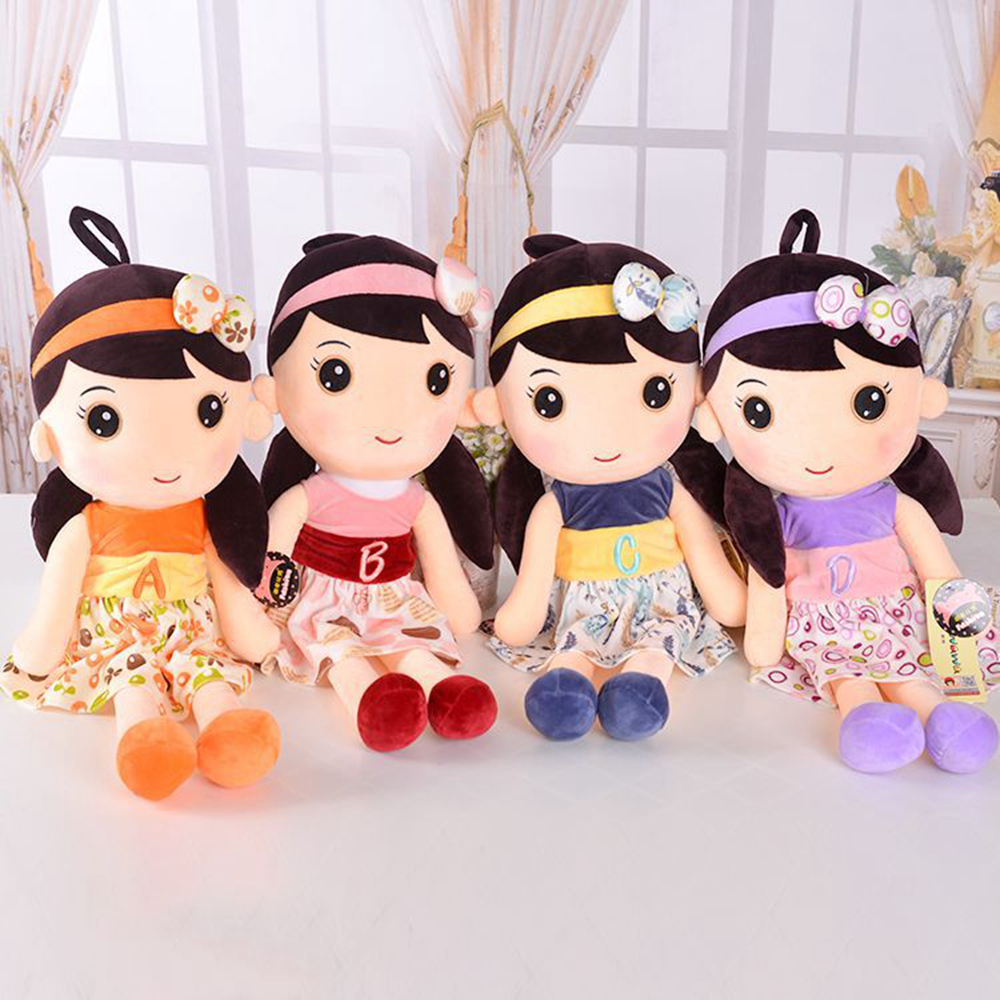 BABELEMI Cute Carton Little Girl Plush Cloth Doll Toys Great Brithday Christmas Gift for Baby Girl - Big Size Dolls patrick doll plush toys creative toys children birthday gift home decoration cute dolls toy 35 50 cm cute baby boy girl toys