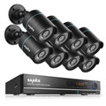 SANNCE HD 5 in 1 1080N 8CH DVR 720P IR CCTV Cameras Home Surveillance Security System