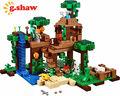 G. shaw ladrillos bloques de construcción de juguete diy 18003 compatible con lego la casa del árbol de la selva 21125