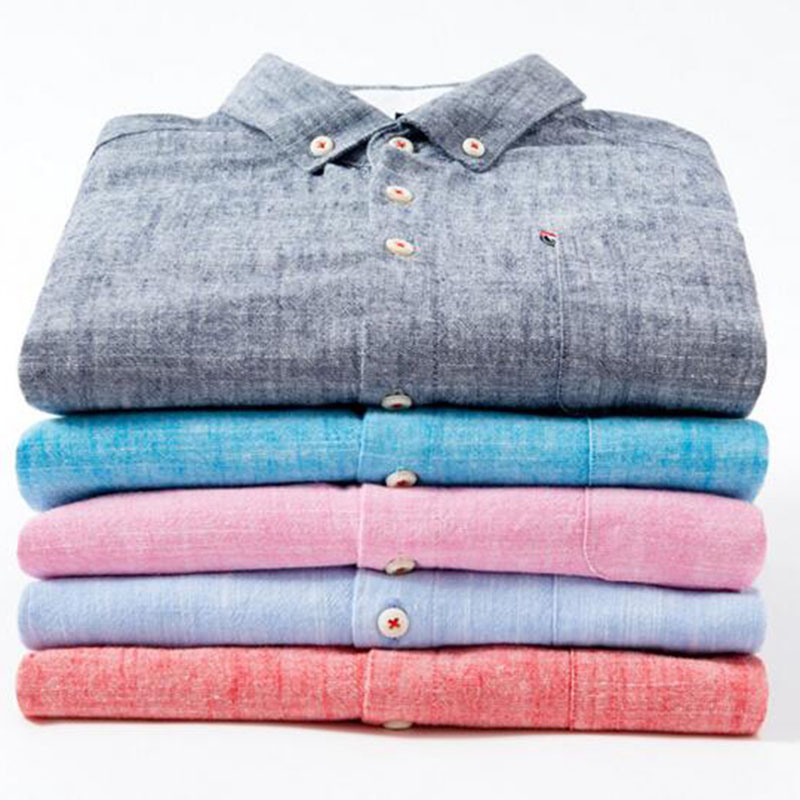 England Style Men Fashion Solid Color Cotton Linen Shirts Camisa,Solid Color Turn-down Collar Comfortable Slim Fit Shirts Cloth