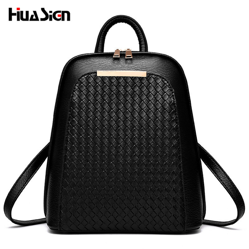 Huasign vintage casual style leather weave school bags high quality hotsale women candy clutch famous designer