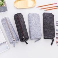 Minimalist creative zipper felt pencil bag fabric pencil case pencil box School Supplies Office Supplies stationery student gift [category]