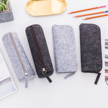 Minimalist creative zipper felt pencil bag fabric pencil case pencil box School Supplies Office Supplies stationery student gift
