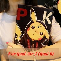 Tablet Case For Apple Ipad 6 Ipad Air 2 Pocket Monsters Cute Style PU Leather Protective