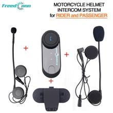 Freedconn T-COM02S Motorcycle Helmet Interphone Bluetooth Helmet Headset for Rider and Passenger Pillion Intercom System