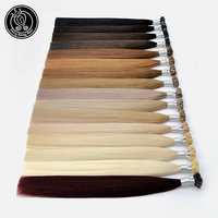 Fairy Remy Hair 20 Remy Keratin Flat Tip Human Hair Extensions Blonde Color Straight Capsules Pre Bonded Hair Extension Natural