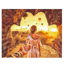 WONZOM Cave Lovers Painting By Numbers Romantic Oil Cuadros Decoracion Acrylic Paint On Canvas Modern 7 Type Home Art