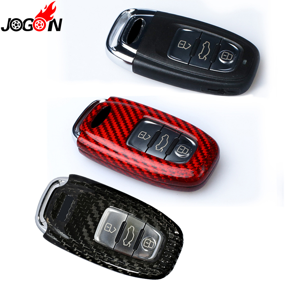 Carbon Fiber Remote Fob Key Case Shell Cover For Audi A4 S4 A5 S5 B8 8K