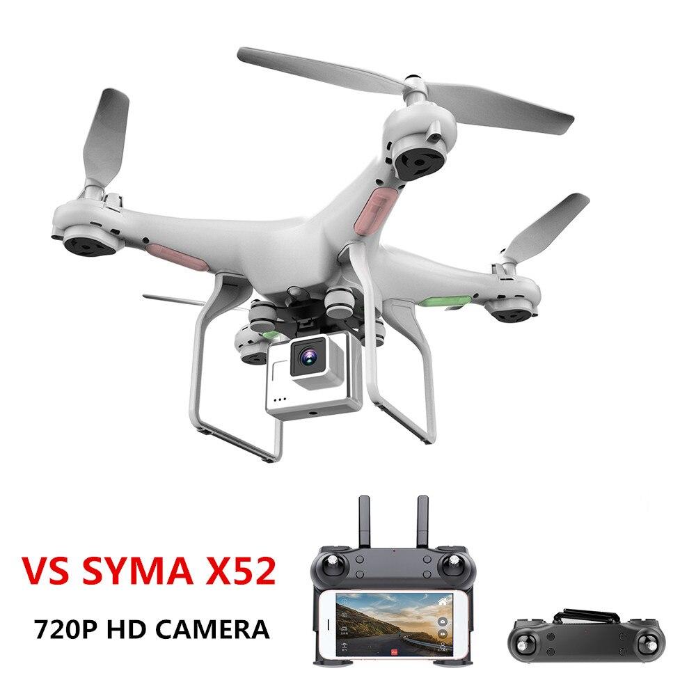Actualizar nuevo Drone con cámara 720 p HD 0,3 W blanco Hover Helikopter del SYMA X52 Dron RC Drone completa hd Cámara Drone profesional