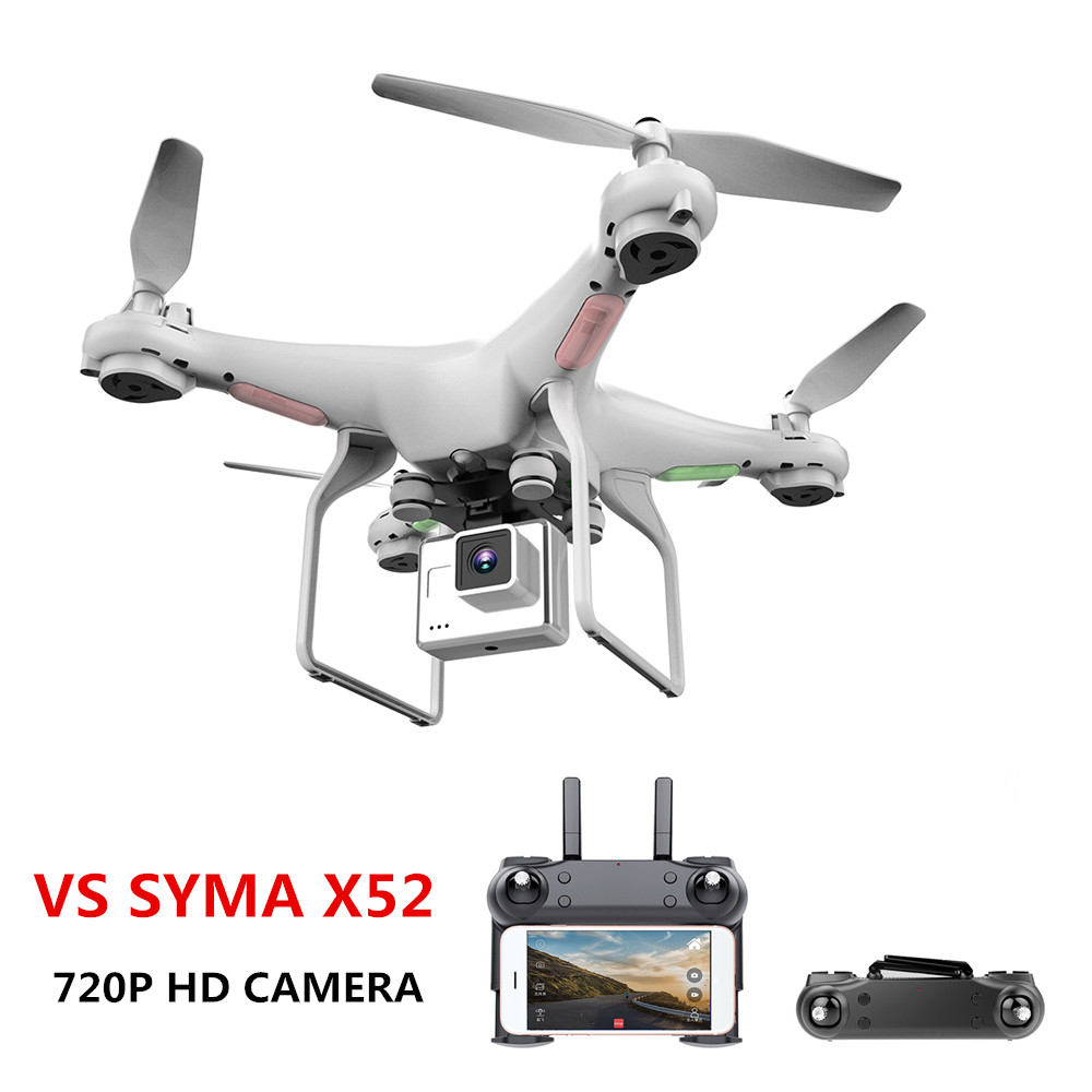 Upgrate Новый Дрон с камерой 720P hd 0,3 Вт белый Hover Helikopter VS SYMA X52 Дрон RC Дрон Full hd камера Дрон Professional