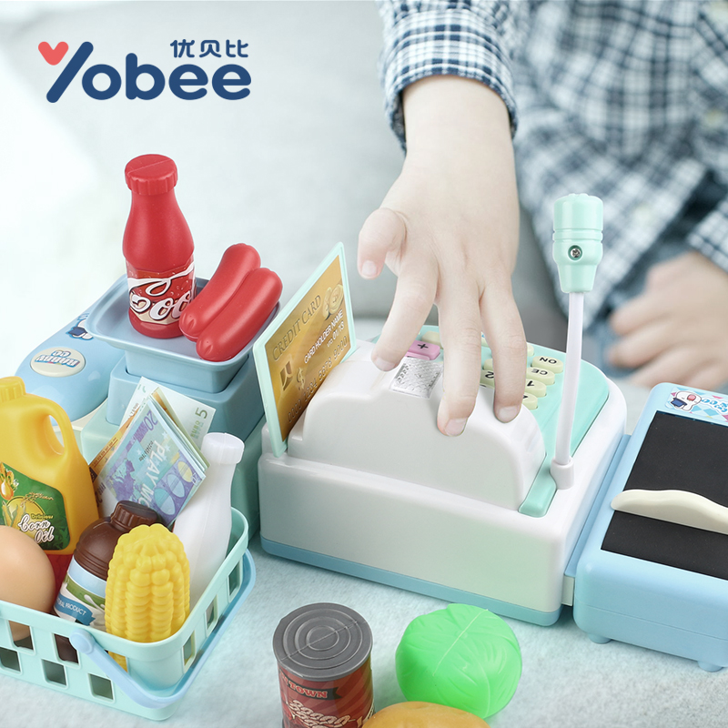 Yobee-Multi-functional-Cash-Register-Toy-Educational-Pretend-Play-Operated-Toy-Working-Calculator-and-Microphone-Scanner-3