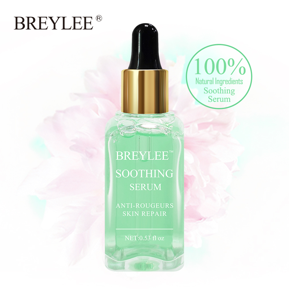 BREYLEE Soothing Repairing Serum Repair Sensitive Skin Redness Face Skin Care Acne Scar Removal Snail Serum 100% Natural Beauty