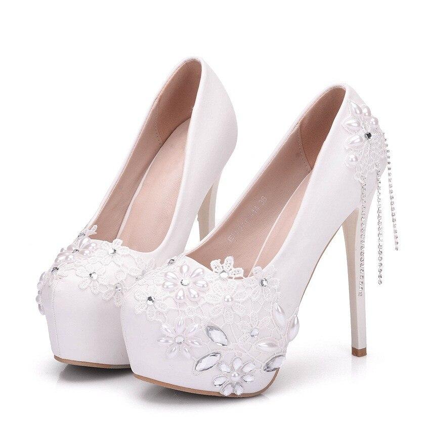 a0025 Plus Qualité Haute Pompes Rond Talons Super Blanc Nouveau Robe Doux Xy Femmes Printemps Date Chaussures Taille La Bout Plate forme gnqaFRz
