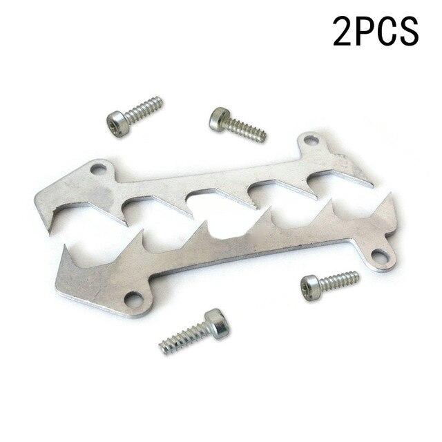 2 peças de corte pára choques spike + parafusos para stihl 017 018 021 023 025 ms170 ms180 ms210 ms230 ms250 peças reposição ferramentas para trabalhar madeira