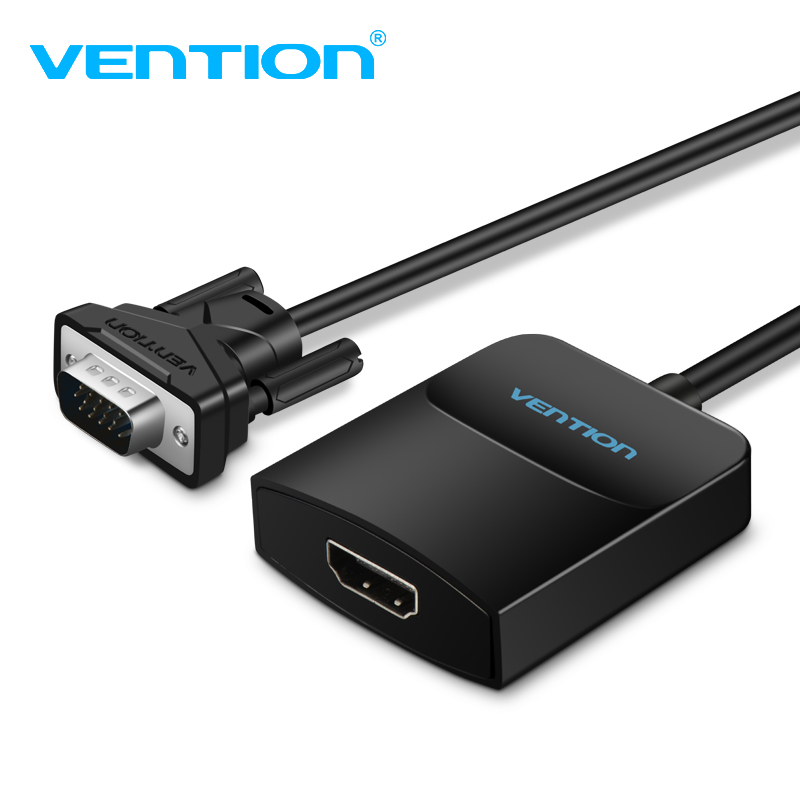 Vention VGA to HDMI Converter Adapter Cable 1080P Analog to Digital Video Audio Converter for PC Laptop to HDTV Projector Tv Box new vga to hdmi converter adapter output 1080p hd with audio vga2hdmi tv av to hdtv video cable convertor adapter for tv pc