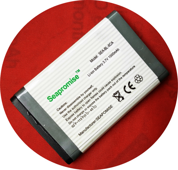 Free shipping retail mobile phone battery BL-5CA BL 5CA BL5CA for NOKIA 208 1209 1255 1315 1600...