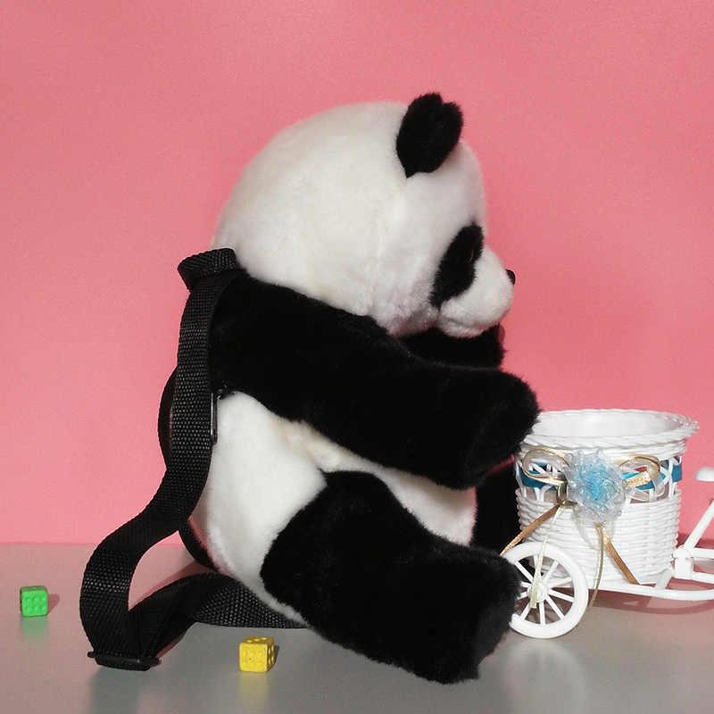 Animais fofos De Pelúcia Simulação Panda Mochilas Schoolbag Crianças Menina Linda Brinquedos de Pelúcia Panda Animais Simular Mochilas Para Crianças