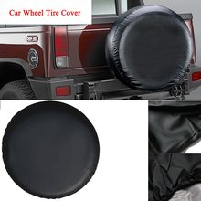 1 st 15/16 inch PVC Auto Wiel Tire Covers Reservewiel Cover Case Auto Gesimuleerde Auto Tire covers Cover Band Wiel Tas (Zwart)(China)