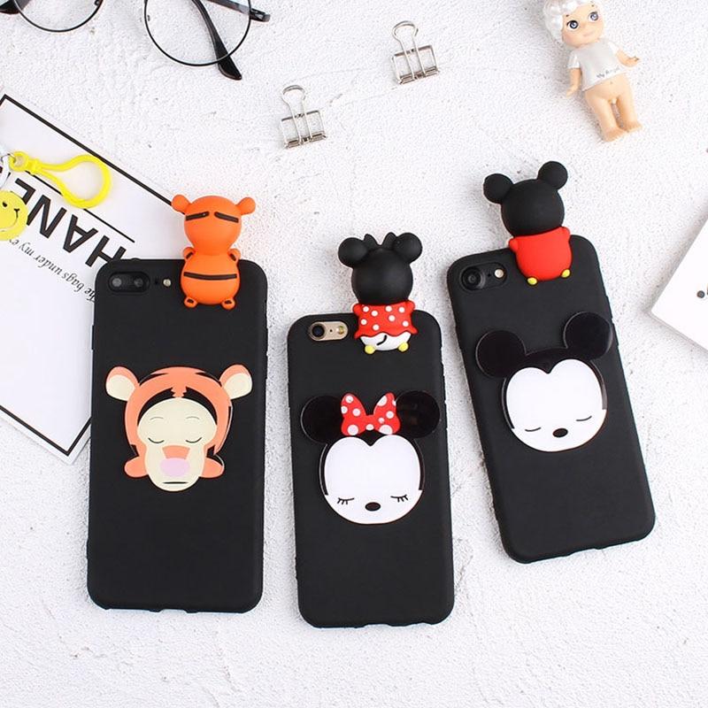 3D Cartoon Mickey Minnie Case For Xiaomi Redmi Note 5A 4 4X 3 Hongmi Note 5 Pro Cute Duck Tiger Bear Soft Cover