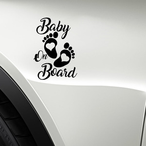 Image 3 - SLIVERYSEA Sticker Vinyl Hobby Car Decal Baby on Board Black/Silver