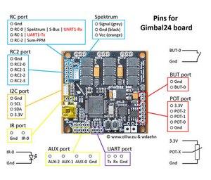 Storm32 BGC 3-осевой 32 бит STM32 Бесщеточный Стабилизатор с двойным гироскопом для DIY Квадрокоптер, Мультикоптер FPV F18887