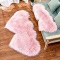 RAYUAN Love Heart Rugs искусственный шерстяной овчина  Пушистый Ковер  искусственный коврик на пол  мех  простой пушистый мягкий коврик  2 размера