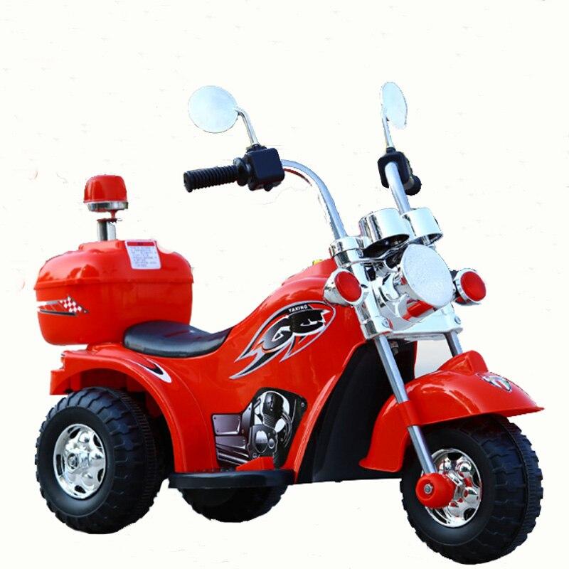 Bébé moto enfants électrique garçon fille âgé de 3-6 ans LargeTricycle moto cadeau tout-terrain moto monter sur les voitures en plein air jouet
