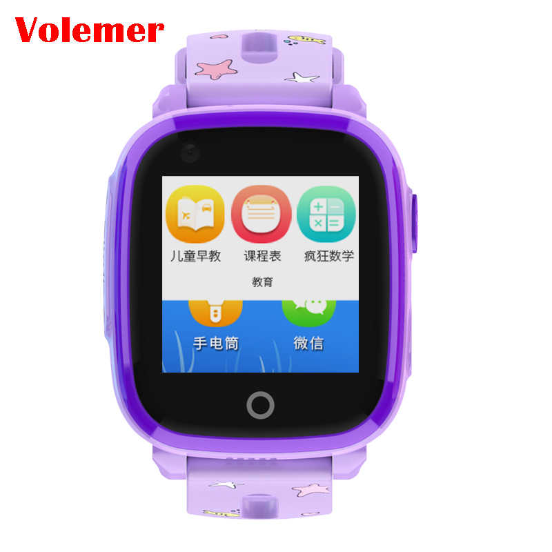 Volemer IP67 Waterproof Smart 4G Remote Camera GPS WI-FI DF33 Kids Children Students Wristwatch SOS Video Call Monitor Tracker