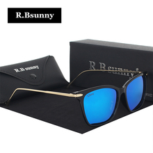 R.Bsunny Brand Designer Women Sunglasses Men Fashion Polarized Metal Frame Sun Glasses Shade Gafas Oculos Eyewear R0812