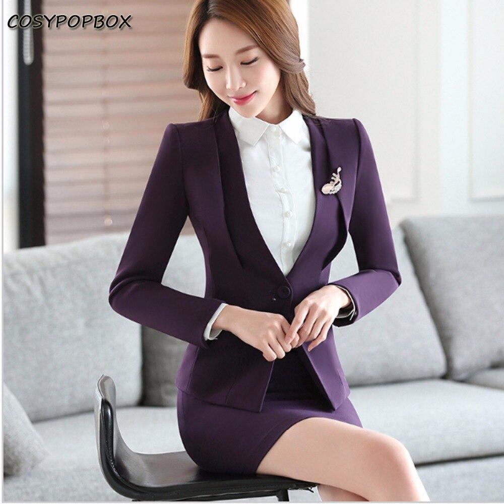 Чёрный деловой костюм с юбкой