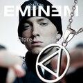 Transporte da gota nova chegada Rapper Eminem illuminati colar de pingente de prata