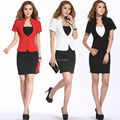 Newest 2015 Business Women Work Wear Suits Skirts Sets for OL Office Ladies Blazer Sets Spring Summer Free shipping Size S-XXL