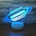 Креативный подарок 3d ночник сенсорный Настольная лампа led7 цвет обесцвечивание акриловый визуальный свет (трещина база) 1538