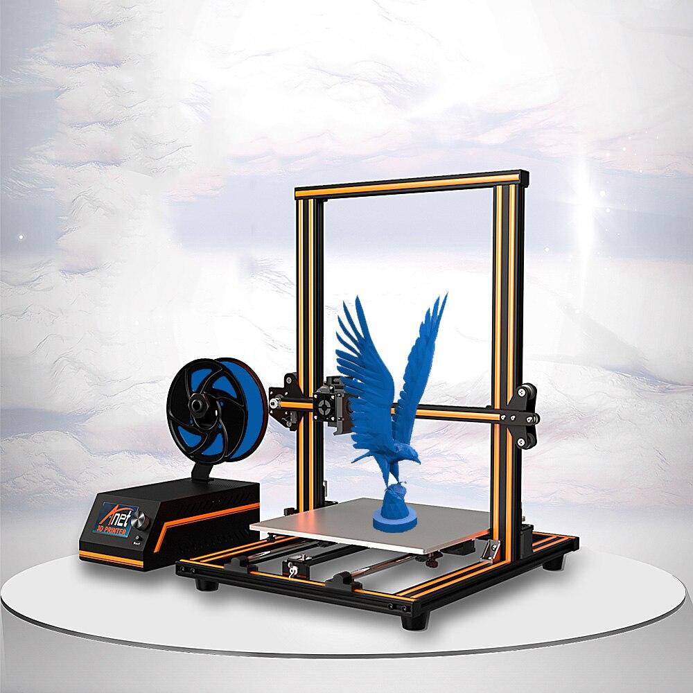 Anet E16 E12 E10 Grande 3D Stampante di Alta Precisione Doppia Y-Axis Aste Prusa I3 Desktop 3D Stampante impresora 3d con Filamento