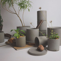 Silicone Molds Round Flower Pot Molds Concrete Vase Molds Garden Cement Mold DIY Craft Tool