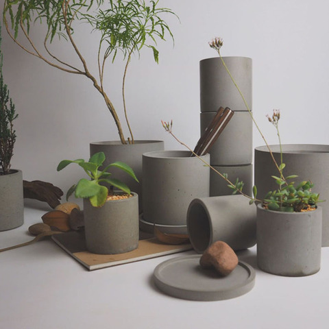 Moldes de Silicone Vaso de Flores Vaso de Jardim Moldes de Concreto de Cimento Rodada Moldes Molde Diy Artesanato Ferramenta