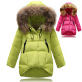 2015 Fashion Girl Winter down Jackets Coats warm baby girl 100% thick duck Down Kids jacket Children Outerwears for cold winter