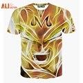 Alisister Nova Moda Gráficos Camisa de T Para Homens/mulheres Harajuku Estilo Pintura A Óleo 3d T-Shirt Do Crânio de Verão Casuais Homem 3d Tshirt