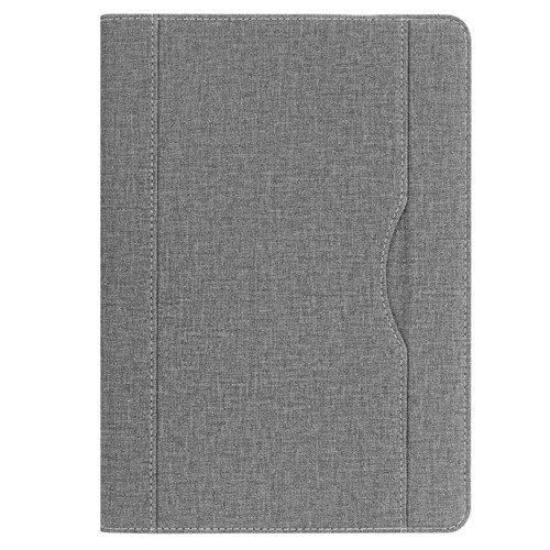 Gray iPad folio case with stand and pen holder