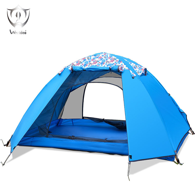Wnnideo 2 Person Double Layer Waterproof for Outdoor Camping Traveling Activities In Floral Personality high quality outdoor 2 person camping tent double layer aluminum rod ultralight tent with snow skirt oneroad windsnow 2 plus