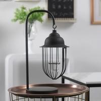 Европейский стиль простой кованого железа висит подсвечник ретро ностальгические Романтический ветер лампы бар стол Творческий модель ук