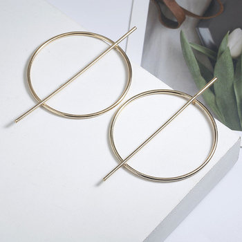 New exaggerated Big Earrings for Women Circle Round Alloy Earrings Jewelry Halloween Gift 3