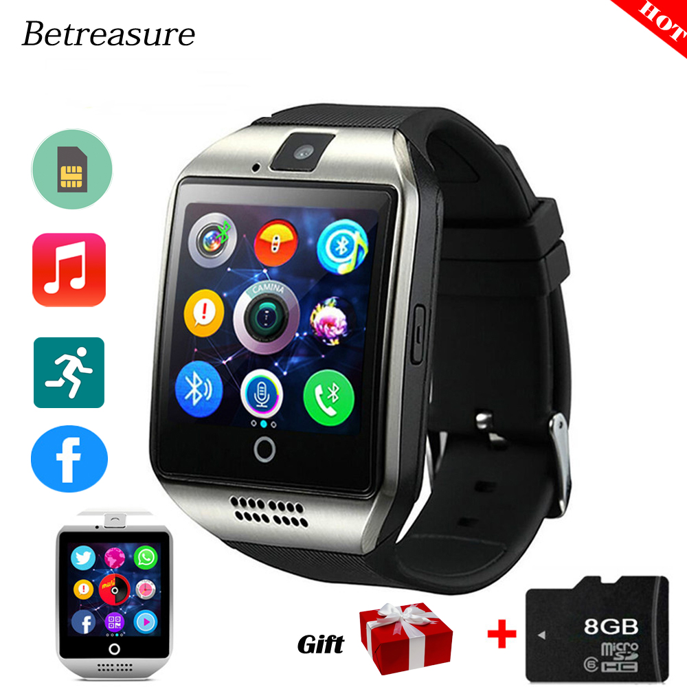 Betreasure Q18 Bluetooth Smart Watch Intelligent Clock With Pedometer Camera 32G TF/SIM Card Whatsapp For Android IOS Phone