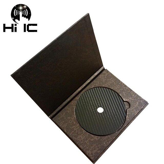 1PCS פחמן סיבי CD קלטת דיסק מחצלת בסיס כוונון כרית HiFi אודיו פטיפון מכונה אנטי הלם בולם זעזועים רטט קליטה