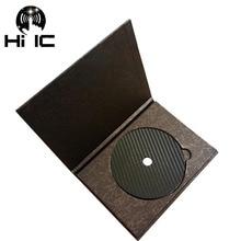 Cinta de fibra de carbono esterilla de disco, Base de sintonización, tocadiscos de Audio HiFi, absorción de vibración, amortiguador, 1 Uds.
