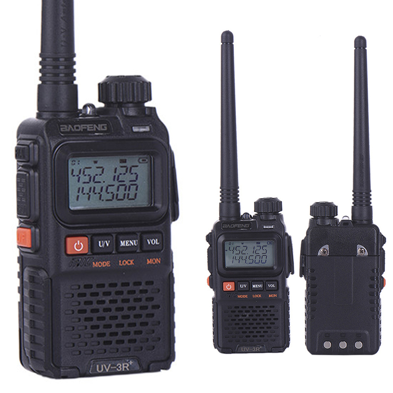 bilder für Baofeng pofung uv-3r plus amateur handheld zweiwegradio uv3r plus uhf/vhf 99 kanäle 2 watt fm ham walkie talkie transceiver